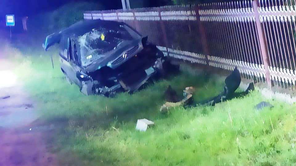 Kierujący citroenem wypadł z drogi. Był kompletnie pijany [ZDJĘCIA] - Zdjęcie główne