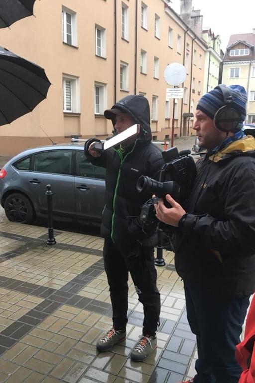Ekipa telewizyjna w Płocku - Zdjęcie główne