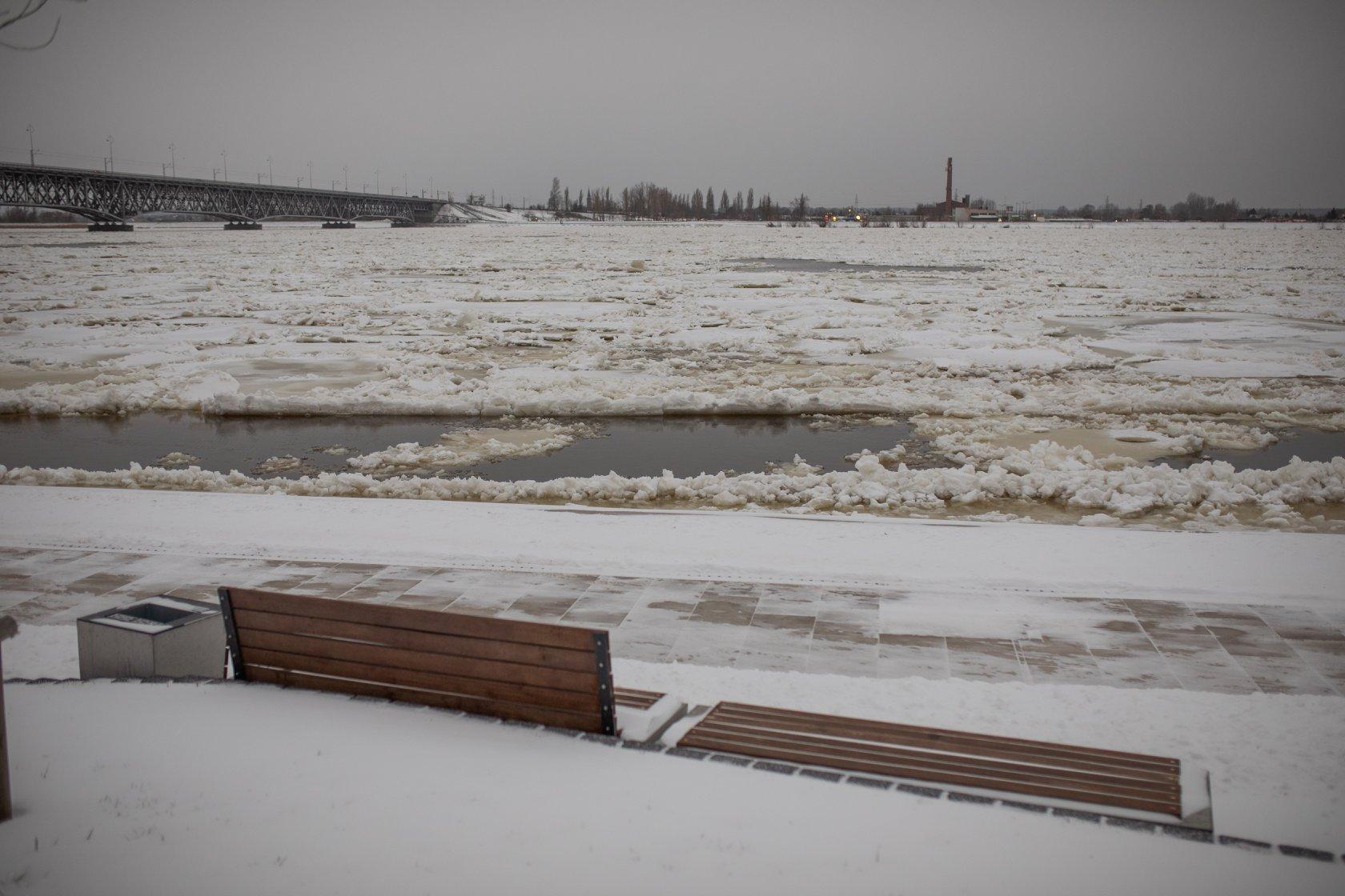 Poziom Wisły w Płocku cały czas rośnie. Stan alarmowy przekroczony na wszystkich wodowskazach - Zdjęcie główne