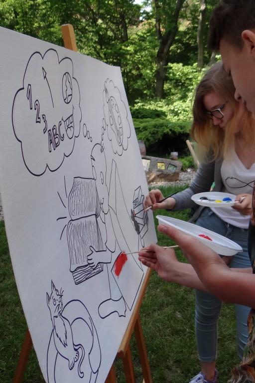 Street art w Książnicy Płockiej - Zdjęcie główne