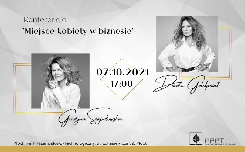 Szapołowska i Goldpoint, czyli głośne nazwiska w Płocku, na równie głośnej konferencji - Zdjęcie główne