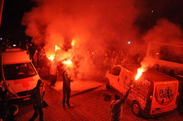 Zadyma po meczu w Kielcach [FOTO] - Zdjęcie główne