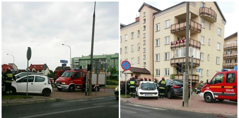 Zderzenie samochodów na Podolszycach Północ - Zdjęcie główne