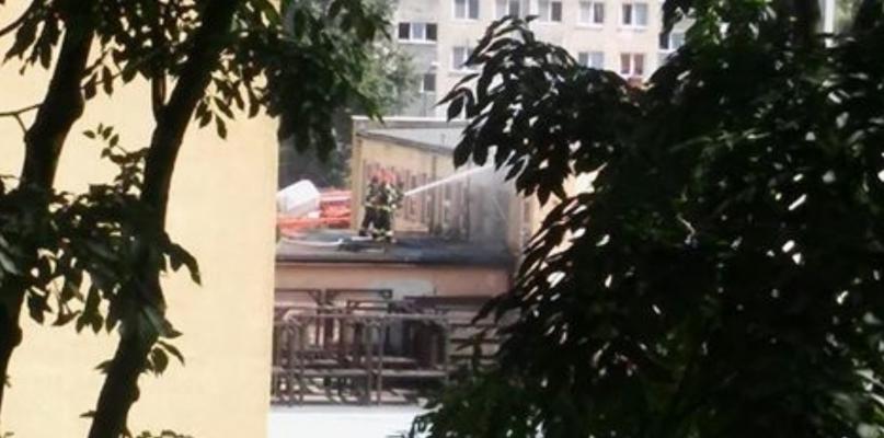 Pożar w centrum miasta. Płonęła przyszła siedziba POKiS-u  - Zdjęcie główne
