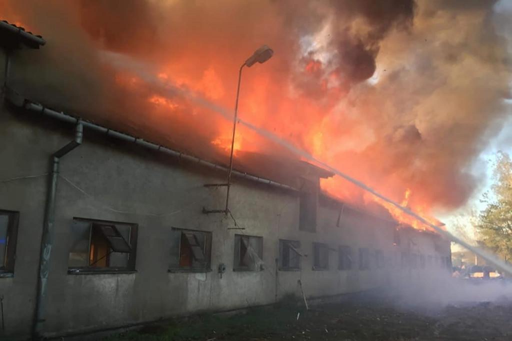 Pożar w gminie Radzanowo - Zdjęcie główne