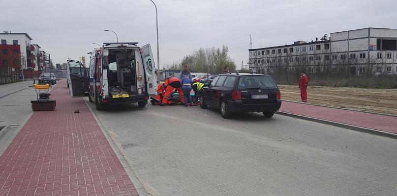 Wypadek. Samochód potrącił pieszego [FOTO] - Zdjęcie główne
