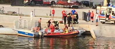 Młody mężczyzna skoczył z mostu do Wisły - Zdjęcie główne