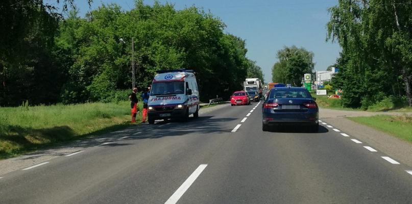 Zderzenie aut na wylocie z Płocka. Duże utrudnienia w ruchu - Zdjęcie główne