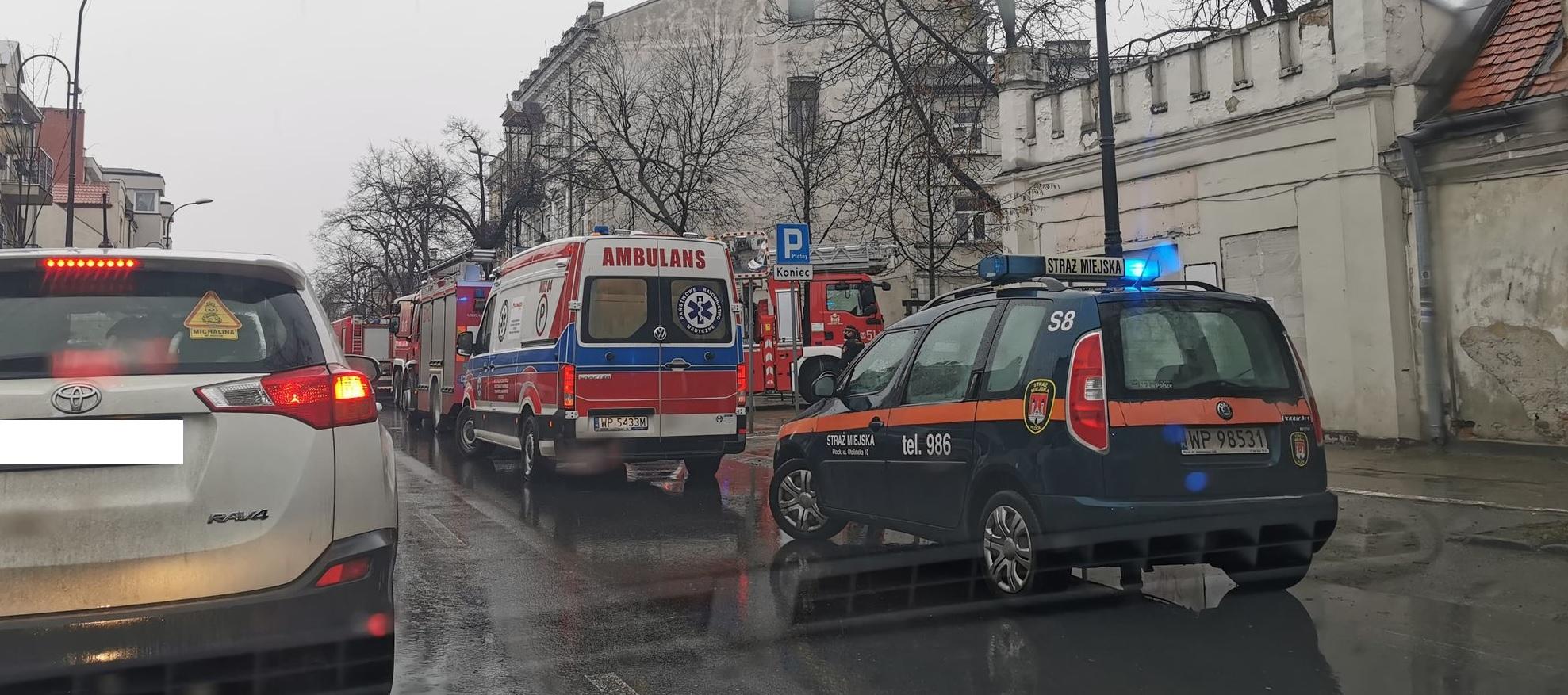Pożar w centrum miasta. Mężczyzna został przewieziony do szpitala  - Zdjęcie główne