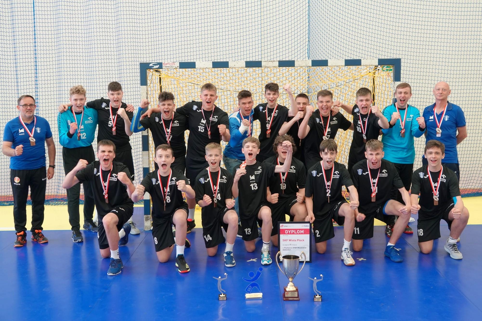 Młodzicy SKF Wisła Płock lepsi od Vive. Brązowy medal w Final Four - Zdjęcie główne