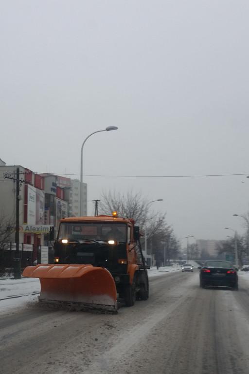 Zima na płockich drogach - Zdjęcie główne