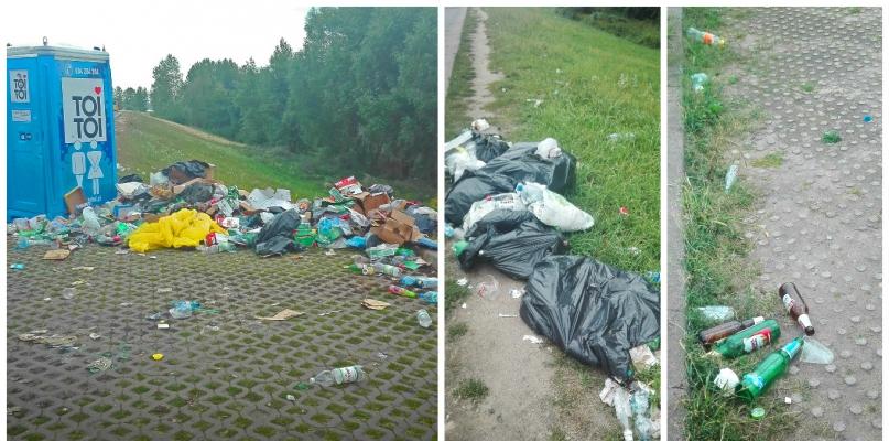 Trzy dni po Audioriver, a nad rzeką nadal jedno wielkie śmietnisko! - Zdjęcie główne