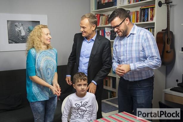 O czym premier rozmawiał z płocką rodziną? - Zdjęcie główne