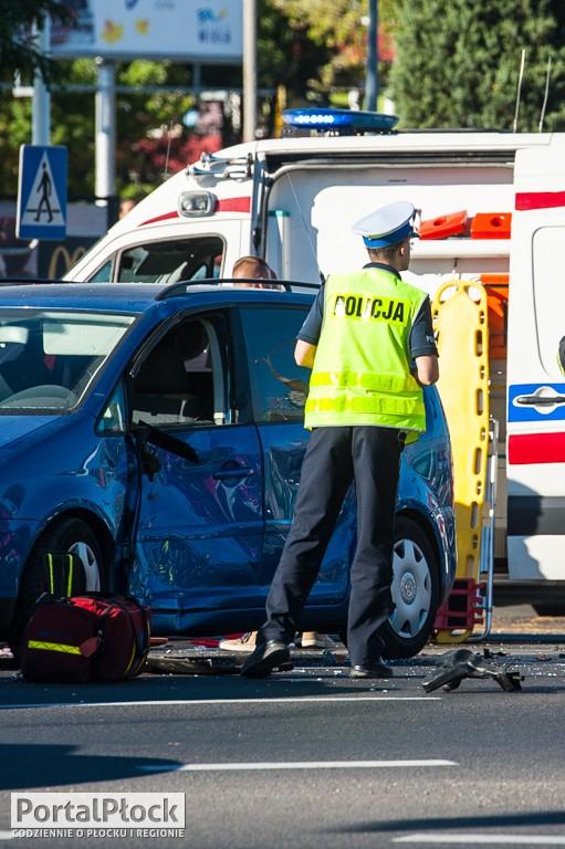 Wypadek z motocyklem na Podolszycach - Zdjęcie główne
