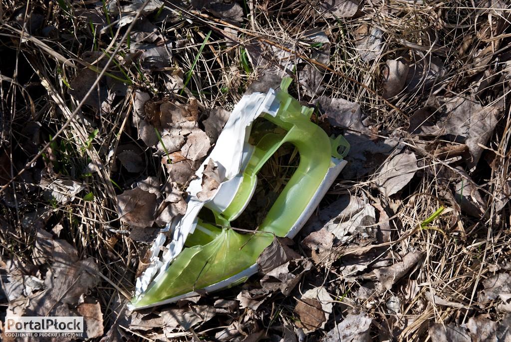 Śmieci za ogródkami działkowymi - Zdjęcie główne
