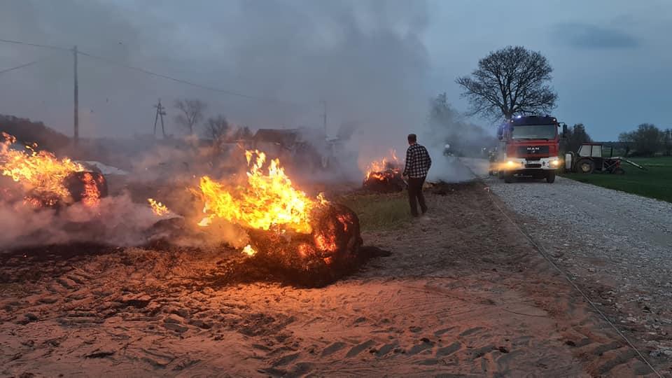 Pożar pod Płockiem. Ogień zagrażał budynkowi [ZDJĘCIA] - Zdjęcie główne