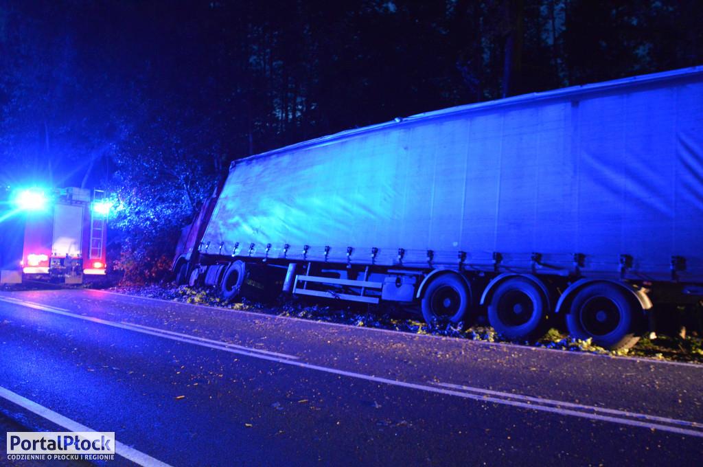 Roztrzaskana ciężarówka pod Płockiem[FOTO] - Zdjęcie główne