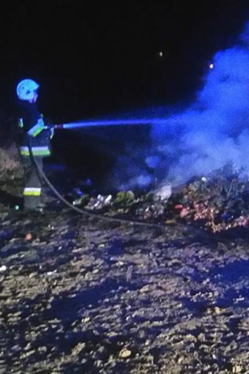 Pożar przy cmentarzu w Duninowie - Zdjęcie główne