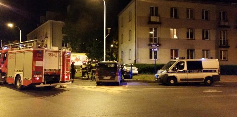 Nocny wypadek w centrum miasta [FOTO] - Zdjęcie główne