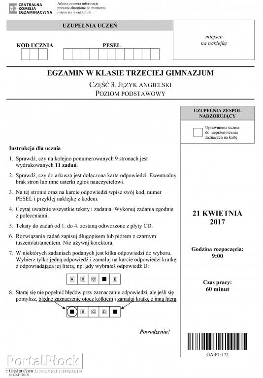 Egzamin gimnazjalny: angielski - Zdjęcie główne