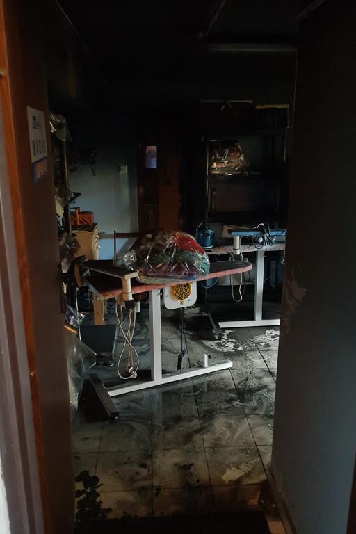 Straż pożarna w bloku na Podolszycach - Zdjęcie główne