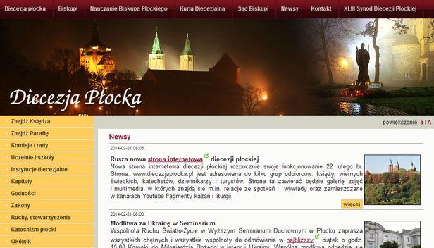 Nowa strona diecezji płockiej od jutra - Zdjęcie główne
