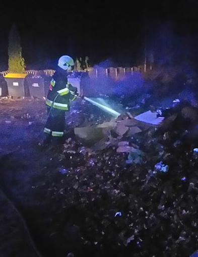 Pożar. Strażacy gasili ogień na cmentarzu [FOTO] - Zdjęcie główne