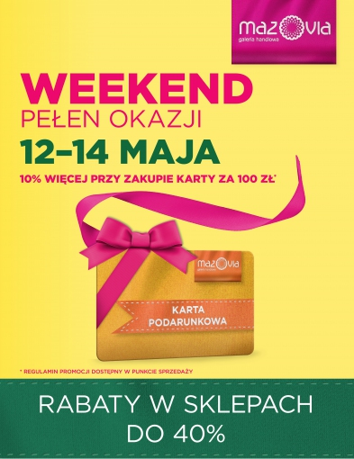 Weekend pełen okazji z kartą podarunkową w Galerii Mazovia! - Zdjęcie główne