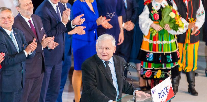 Jarosław Kaczyński w Płocku. Prezes mobilizował swoich wyborców [FOTO] - Zdjęcie główne