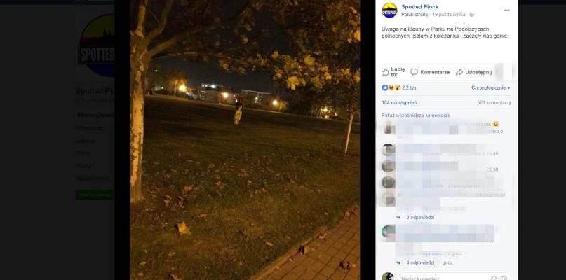 Klaun straszy ludzi w parku na Podolszycach? - Zdjęcie główne