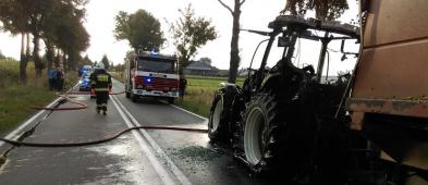W niedzielę palił się ciągnik rolniczy [FOTO] - Zdjęcie główne