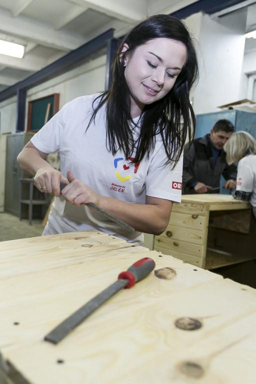 Wolontariusze Orlenu wykonali domki - Zdjęcie główne