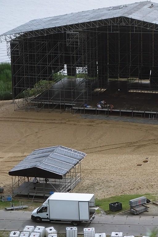 Namioty i scena na Audioriver już rozstawione - Zdjęcie główne