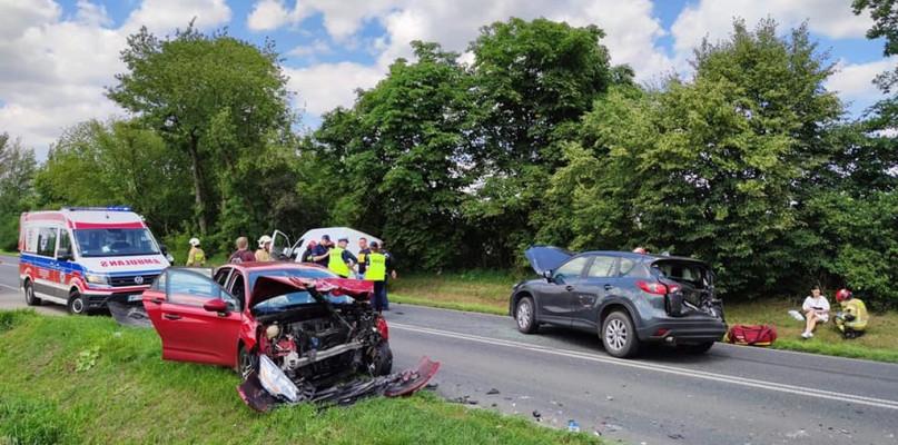 Zderzenie czterech aut w powiecie płockim - Zdjęcie główne