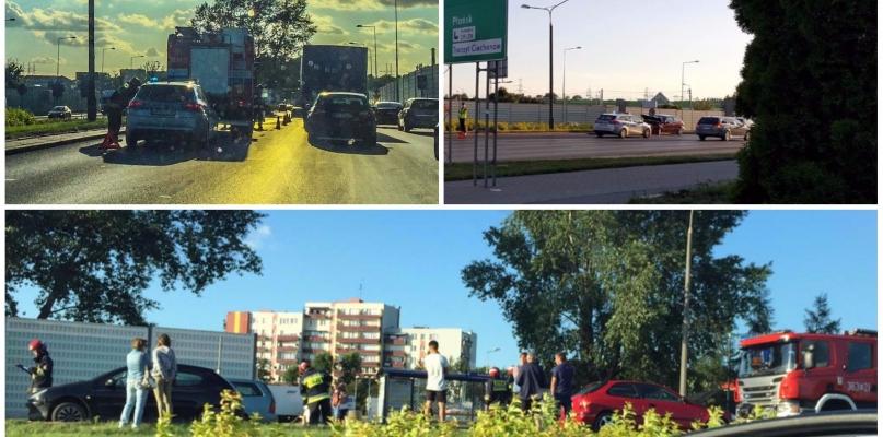 Zderzenie trzech aut, jedna osoba zabrana do szpitala [FOTO] - Zdjęcie główne