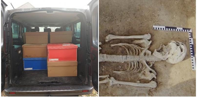 Odkryte w centrum Płocka ludzkie szkielety zapakowano i wywieziono. Trafiły do Łodzi - Zdjęcie główne