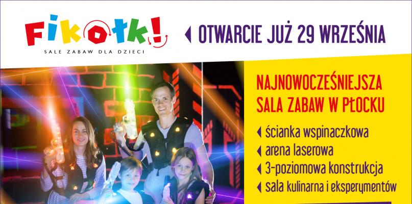 Sala Zabaw Fikołki - nowe centrum rozrywki w Płocku - Zdjęcie główne