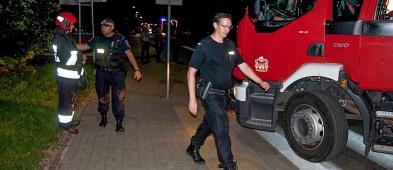 Podejrzenie bomby w bloku przy ul. Kwiatka. Policja szuka sprawcy - Zdjęcie główne