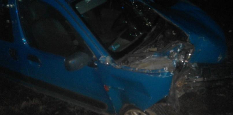 Samochód uderzył w drzewo. Kierowca uciekł - Zdjęcie główne