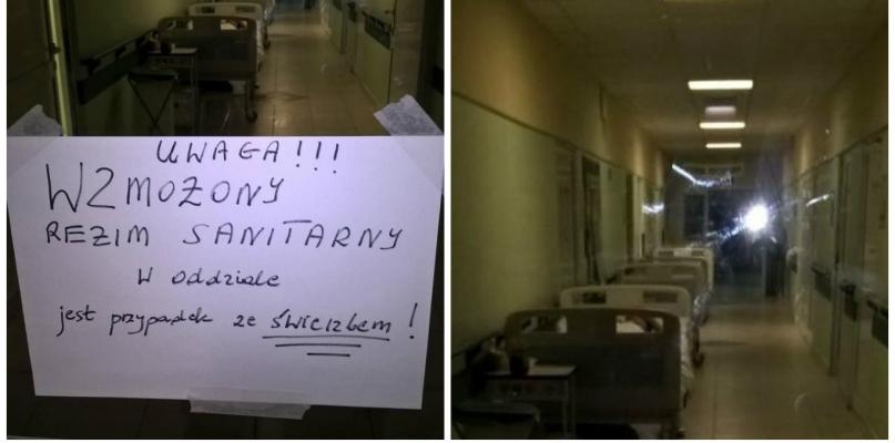 Pacjenci zaniepokojeni kartką na drzwiach w szpitalu na Winiarach - Zdjęcie główne