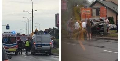 Pogoda dała się we znaki kierowcom. Jeden wyciął latarnię [FOTO] - Zdjęcie główne