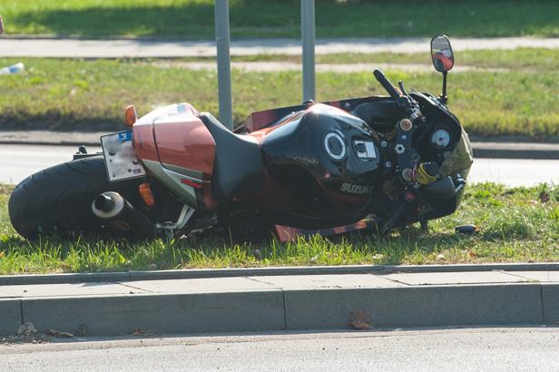 Wypadek. Motocyklista w szpitalu [FOTO] - Zdjęcie główne