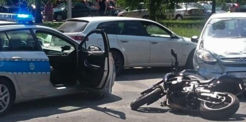Wypadek z udziałem motocyklisty - Zdjęcie główne