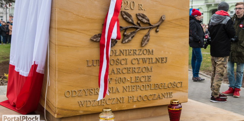 Płocczanie świętowali odzyskanie niepodległości. Odsłonięto kolumnę [FOTO] - Zdjęcie główne
