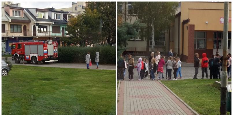 Ewakuacja uczniów ze szkoły na Podolszycach [FOTO] - Zdjęcie główne