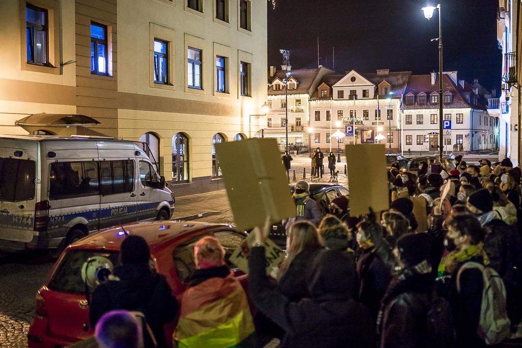 Kilkadziesiąt osób protestowało przed płocką siedzibą PiS [FOTO] - Zdjęcie główne