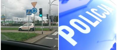 Kolizja była wczoraj, a samochód w piątek nadal stał przy skrzyżowaniu - Zdjęcie główne