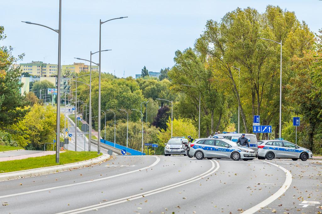 Policyjne zderzenie na Łukasiewcza - Zdjęcie główne