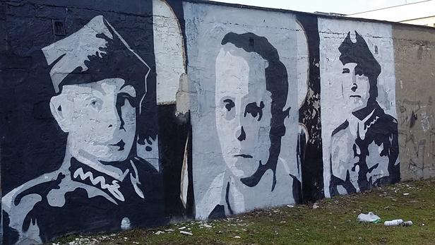 Malują mural na cześć Wyklętych [FOTO] - Zdjęcie główne
