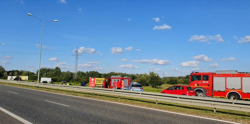Wypadek z udziałem trzech motocyklistów. Most w Płocku zablokowany - Zdjęcie główne